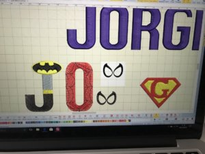 Diseño letras superhéroes