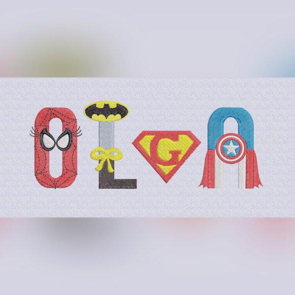 Letras superhéroes