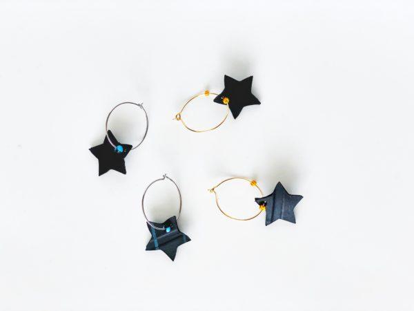 Pendientes estrella BLACK
